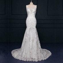 Custom Made 2016 Vestido De Noivas New Design Backless Crystal Appliques Lace Sheath Bridal Gown Wedding Dresses Court Train
