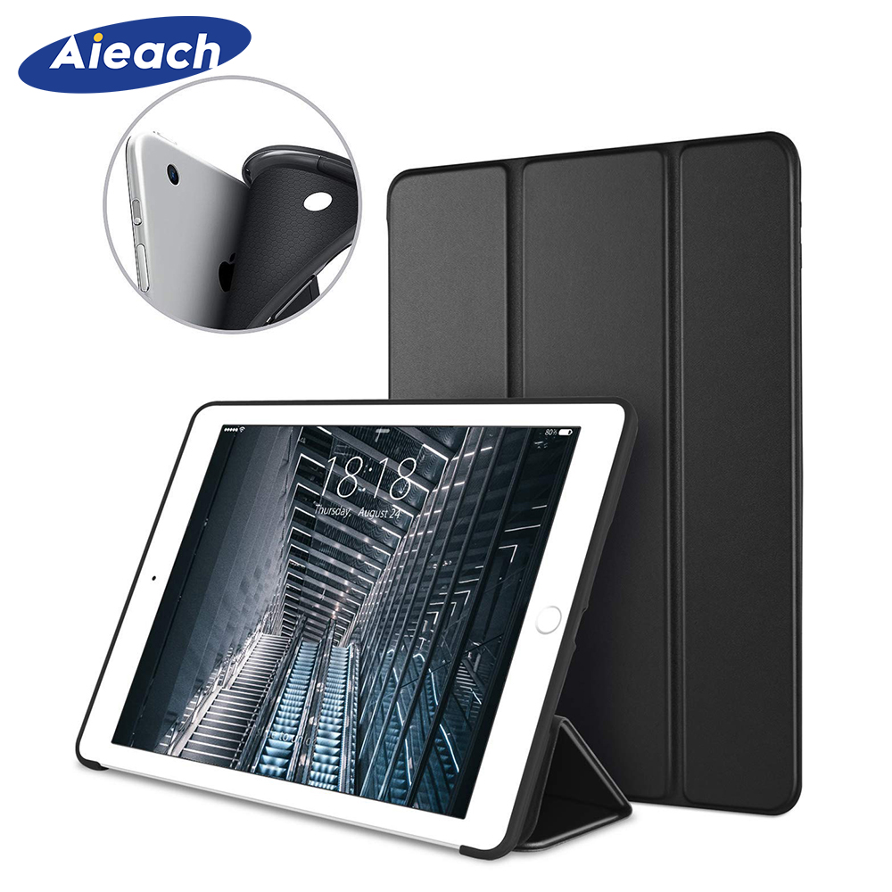 Smart Soft Silicone Case For iPad Air 2 Air 1 9.7 inch PU Leather Trifold Stand Cover For iPad Air Case With Auto Sleep/Wake UpSmart Soft Silicone Case For iPad Air 2 Air 1 9.7 inch PU Leather Trifold Stand Cover For iPad Air Case With Auto Sleep/Wake Up