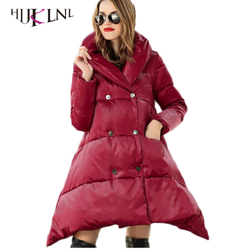 HIJKLNL Thick Female Hooded   Down   Parkas 2019 Hooded Female 90% White Duck   Down     Coats   Women   Down   Jackets Winter Overcoats PL175