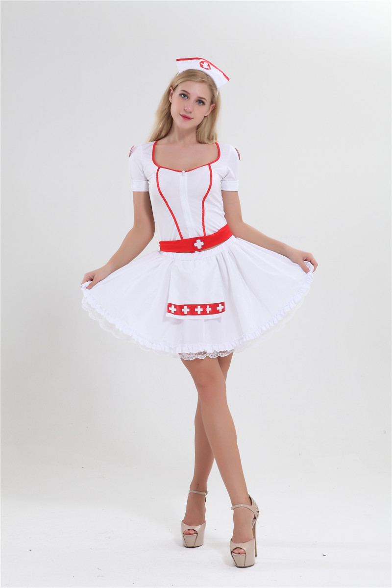 Women Doctor Nurse Uniform Maid Cosplay Costume Roleplay Party Fancy Outfits Set