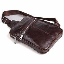 J.M.D Genuine Cow Leather Men's Chest Bag Mini Cross Body Bag Trendy Cross Body Bag For Men 7217C