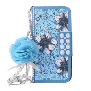 Image 3 - For Samsung Galaxy S6 S7 Edge S8 S9 Plus Rose Flower Leather Flip Wallet Case For Samsung Note 8 5 4 Lovely Pearl Phone Bag