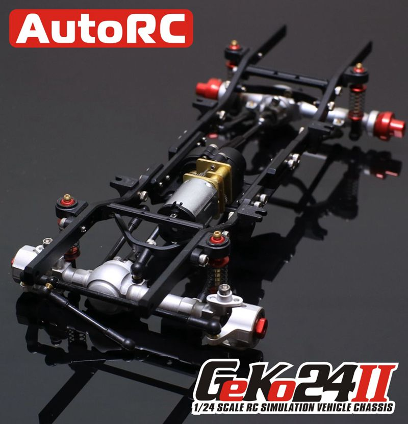 AutoRC 1/24 GK24 Full Metal Simulation Climbing Frame KIT Assemble Climbing RC Car Parts Version Assembled Remote Control Car