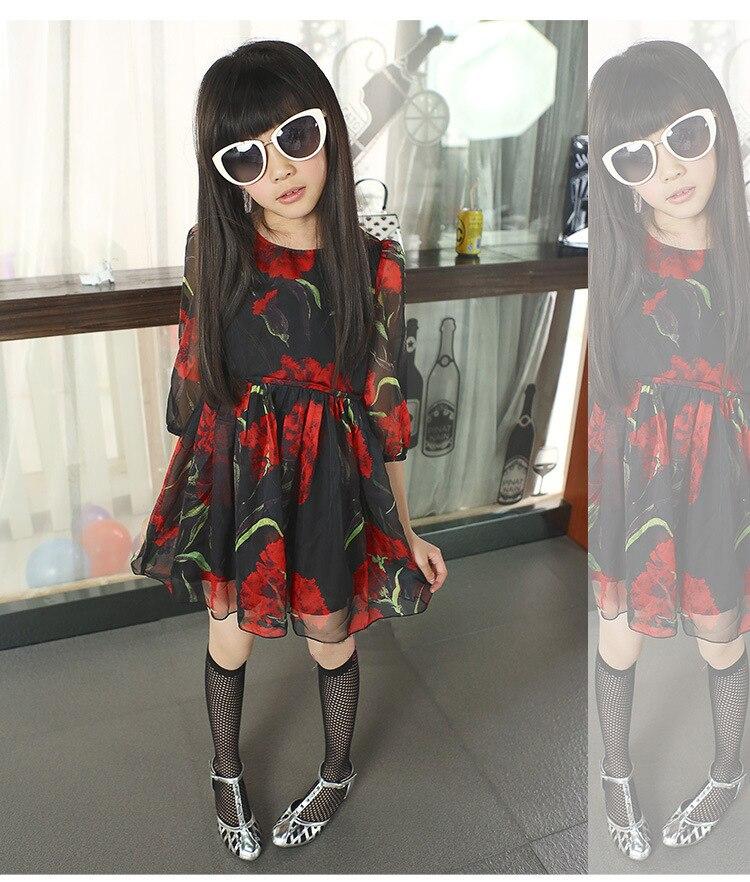 floral girl summer dresses 2015 chiffon dress girls size 10