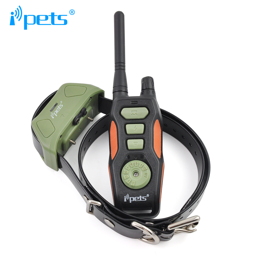 Ipets 618 1 800m remote rechargeable and waterproof for dogs training collar