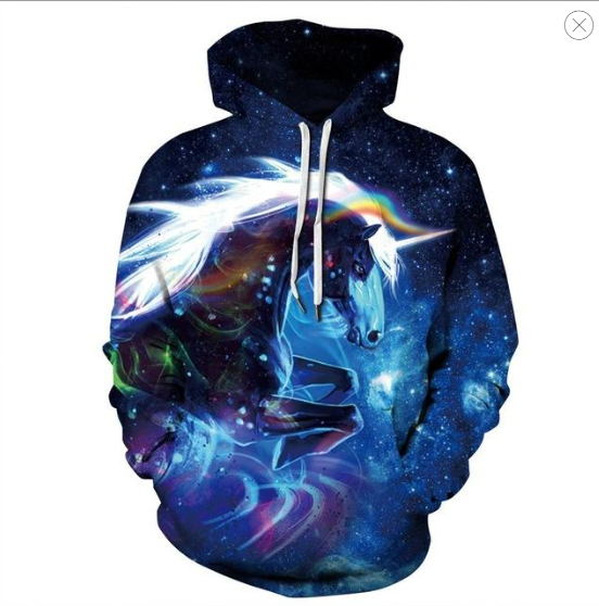 Space Galaxy Horse Hoodie, Men And Women 2019 New Fashion Spring And Autumn Pullover Sweatshirt Men 3D Sportswear