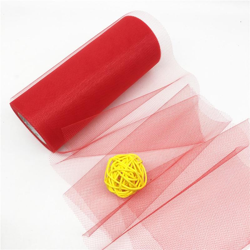 22M / lot Yarn Roll Crystal Tulle Organza Sheer Gauze Element Tutu - Տոնական պարագաներ - Լուսանկար 4