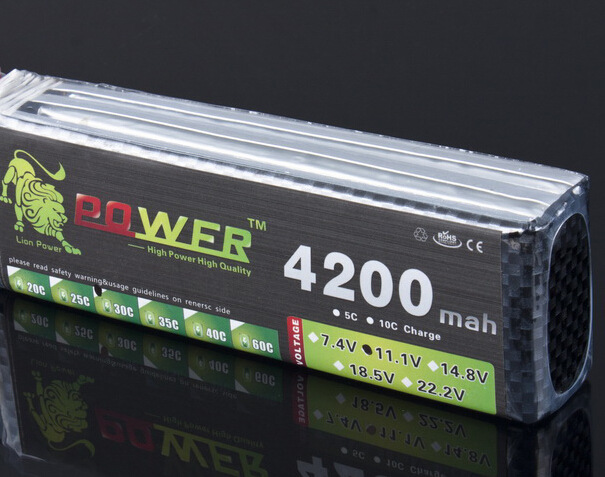 Lion power 11.1v 4200mah 35c For helicopter four axis shaft manufacturers Cars Boats power 3S Lipo 11.1v battery wholesale