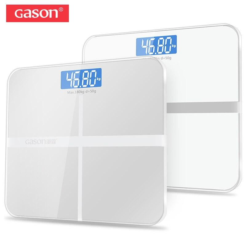 GASON A1 BalanÇa digital banheiro LCD Vidro temperado Tela de exibição de  180kg/50g