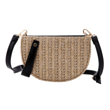 Summer Straw Bags for Women 2018 Luxury Bucket Designer Zipper Weaving Shoulder Messenger Fashion Circular