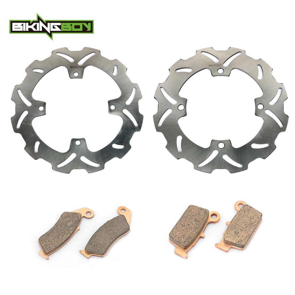 BIKINGBOY Motorcycle Front Rear Brake Disk Disc Rotor Pad for SUZUKI RMZ250 RMZ450 RMZ 250 450 RM-Z250 RM-Z450 05-15 14 13 12 11