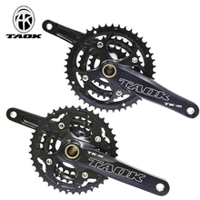 Mountain bicycle+central+axis aluminum alloy mtb crankset bike crankset 9S 10 speed crank fluted disc 170mm