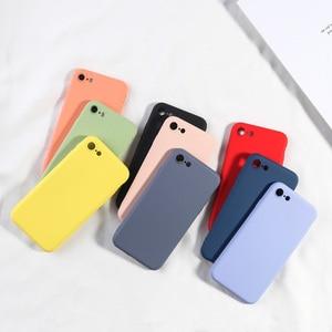 Image 5 - Silikon Fall Für iPhone 7 8 6 6 s Plus X XR XS MAX Volle Abdeckung Weiche TPU Silikon Protector zurück Telefon Deckt Stoßfest Fundas