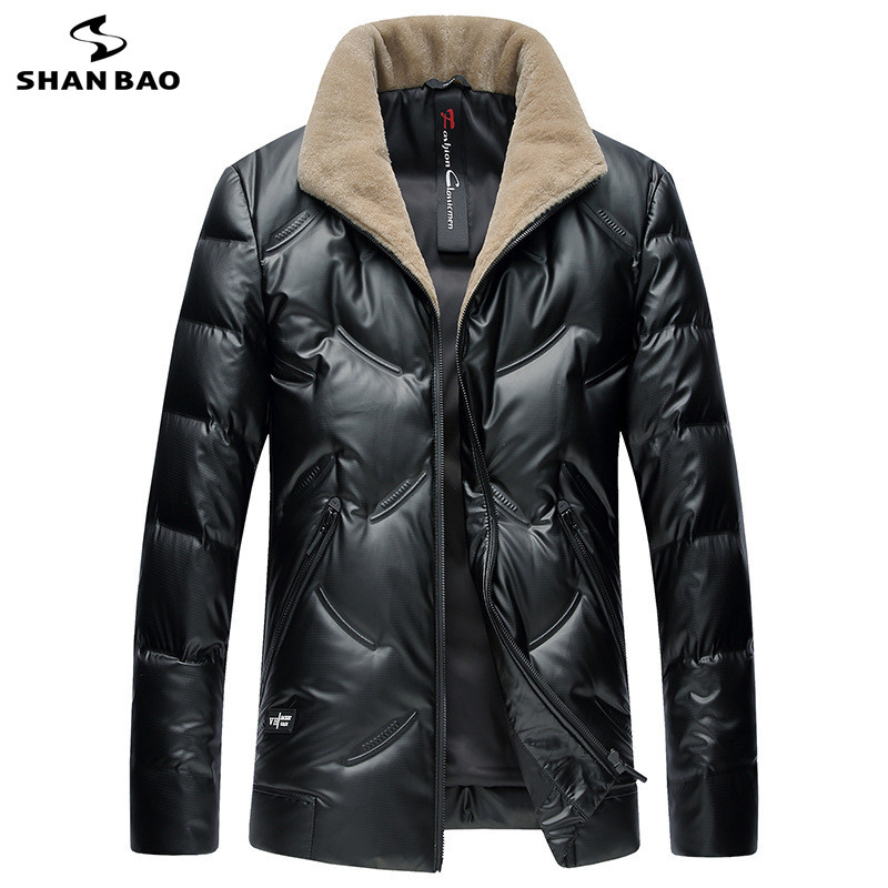 SHNABAO brand luxury high quality white duck down fluffy thick warm down font b jacket b