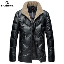 SHNABAO бренд Роскошный Высокое качество белый утиный пух пушистый толстый теплый пуховик 2018 зимний мужской Повседневный шерстяной воротник пуховик
