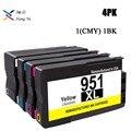 4 шт. 950XL 951XL BK/C/M/Y 950 951 xl совместимый чернильный картридж для hp Officejet pro 8100 8600 8610 8620 8630 8650 251dw 276dw