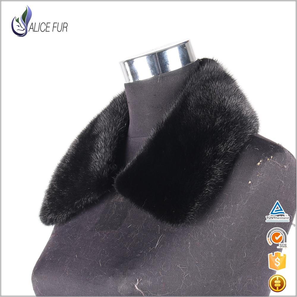 Véritable col en fourrure de vison véritable col en fourrure de vison pour hommes manteau d'hiver - 6