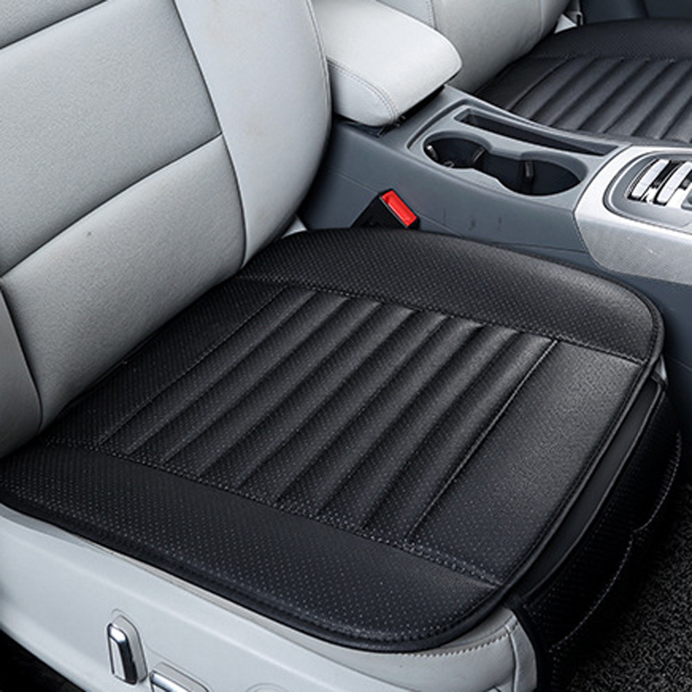 Universal Car Front Single Seat Cover Breathable Pad Mat Cushion Black+Grey