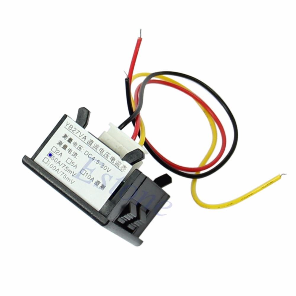 DC 4.5-30V 0-50A Dual LED Digital Volt Meter Ammeter Voltage AMP Power New 2017