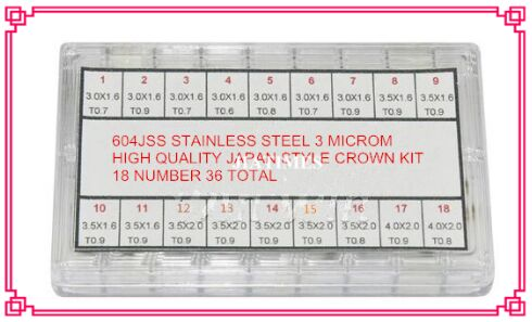 ФОТО Free Shipping 1 Set 3 MicroM Stainless Steel High Quality Japan Style Watch Crown Kit for Watch Repair