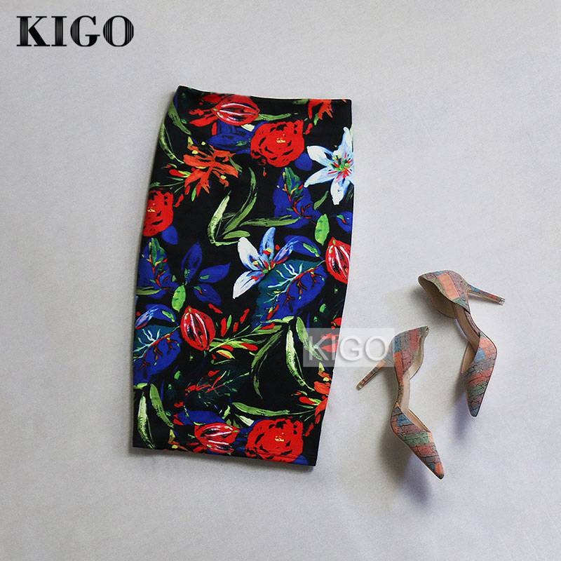 Detail Feedback Questions about KIGO Summer Style Pencil Skirt Women High  Waist Skirts Womens Vintage 2016 Elegant Bodycon Floral Print Midi Skirt  K20 on ... 329e9184f696