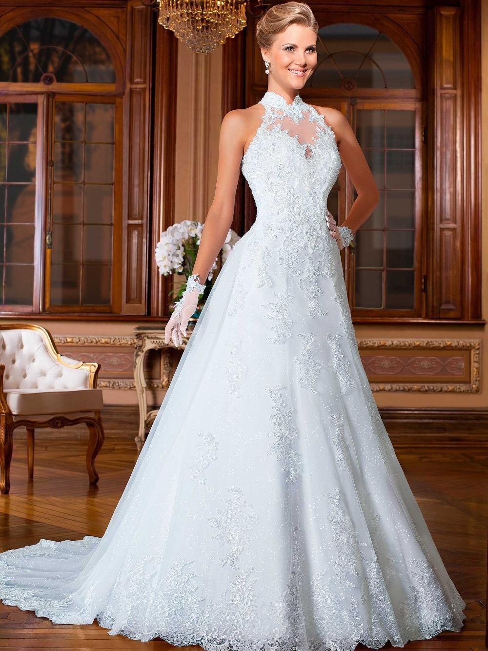Vestido De Noiva 2015 Nuevo Diseño De Encaje Vestidos Novia
