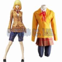 Japanese Anime Prison School Kurihara Mari Women Dress Cosplay Costumes Halloween School Girl Uniform Suit