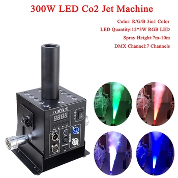 цена на Stage Dj Equipment 12x3w RGB 3In1 Easy Multi Angle Small LED CO2 Jet Machine DMX Powercon DJ LED Co2 Cannon For Stage Effect