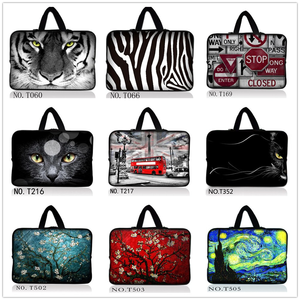 Wholesale newest soft neoprene notebook laptop bag case 9.7 10.1 12 13 14 15 17 inch for macbook air case/macbook pro case