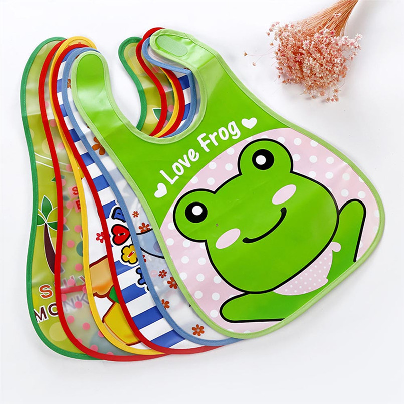 Adjustable Baby Bibs EVA Plastic Waterproof Lunch Feeding Bibs Baby Cartoon Feeding Cloth Children Baby Apron Babador de bebe (4)