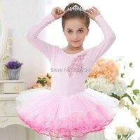 HIGH QUALITY Ballet Dance Costume Girls Long Sleeve Children Swan Lake Performance Ballet Tutu Kids Ballet