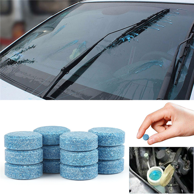 10x Car Wiper Tablet Window Glass Cleaning Cleaner Accessories Sticker For Skoda Octavia 2 A7 A5 A4 Vrs Fabia Rapid Yeti Superb