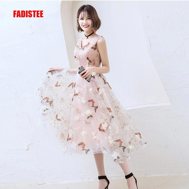 f69cee10a5 FADISTEE New arrival modern party dress evening dresses prom lace pattern  A-line V-