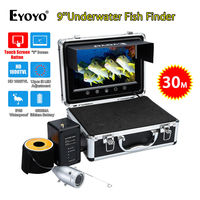 EYOYO WF09T 9 Touch Screen Button 30M 12pcs IR Adjustment Underwater Fishing Camera FishFinder Silver IP68
