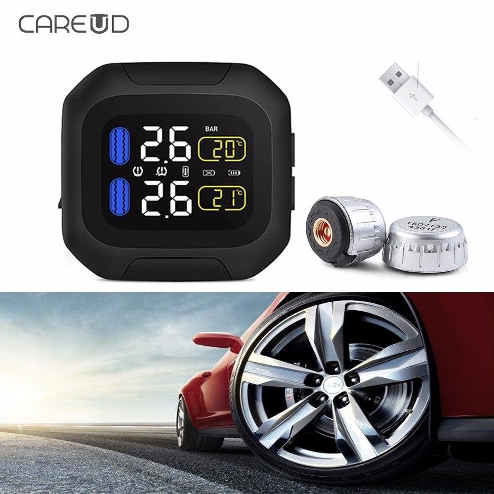 CAREUD M3 WI en temps réel voiture moto système de surveillance de la pression des pneus pression température anormale alarme LCD affichage TPMS