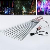2set 50cm10 Tubes LED Meteor Shower Rain LED Christmas Lights String lights Wedding Party Xmas Tree Decoration 110V 220V DC12V