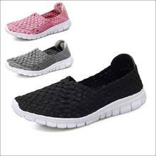 Weave Sneakers Women Casual Shoe Tenis Feminino Women Casual Shoes Moda Mujer Summer 2019 Hollowing Out Brand Designer Shoes