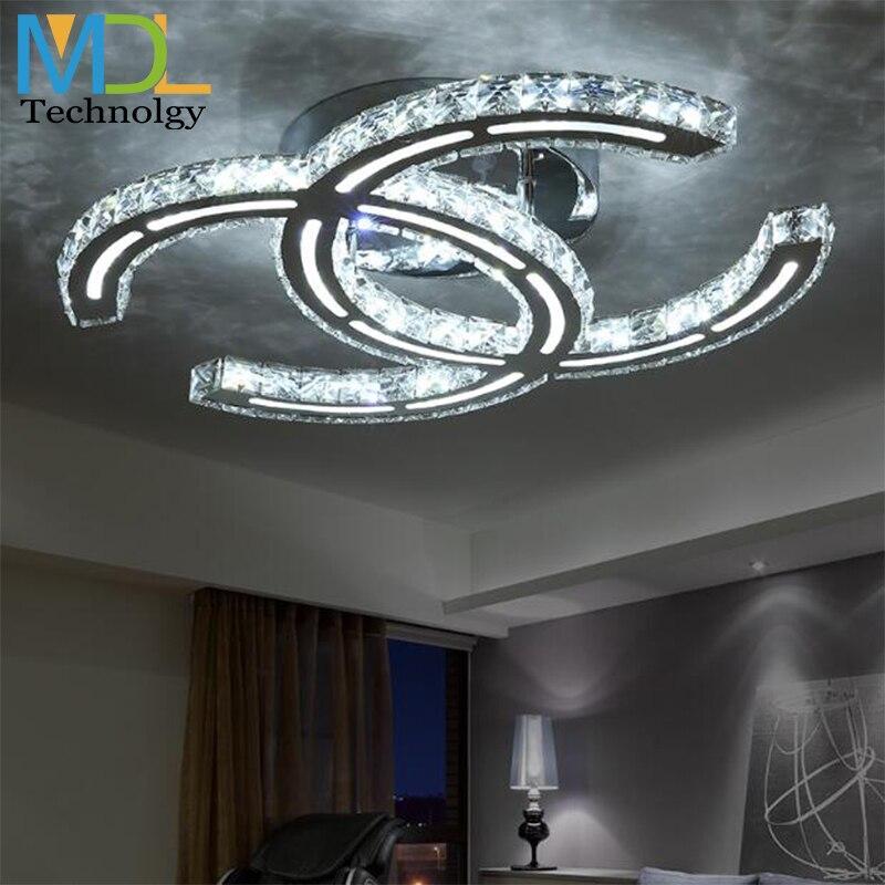 Nouveau LED lustre en cristal 15 W 18 W 35 W 48 W plafond monté éclairage moderne K9 luminaires suspendus pour salon salle à manger