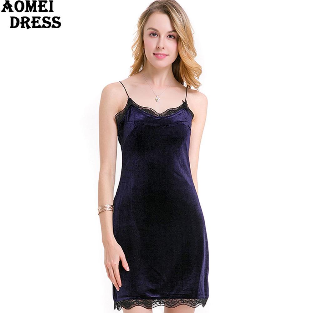 HTB1oZiYPpXXXXX1XFXXq6xXFXXXu - FREE SHIPPING Women New Sexy Velour Dress With Lace Sphagetti Robes JKP259