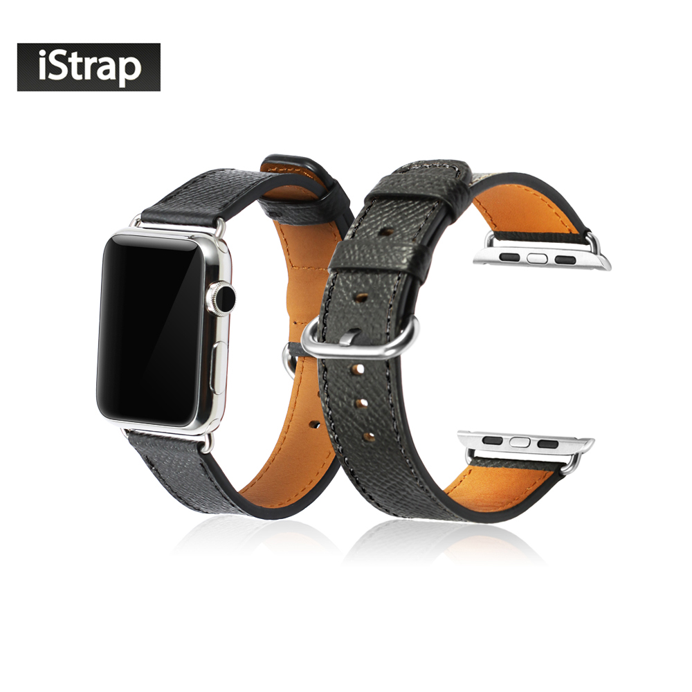 42mm Black Red Litchi Pattern Genuine Leather Band For iwatch High Quality Replacement Strap For Apple Watch Sport Edition high quality black color leather 38 42mm width apple watch strap band for apple watches