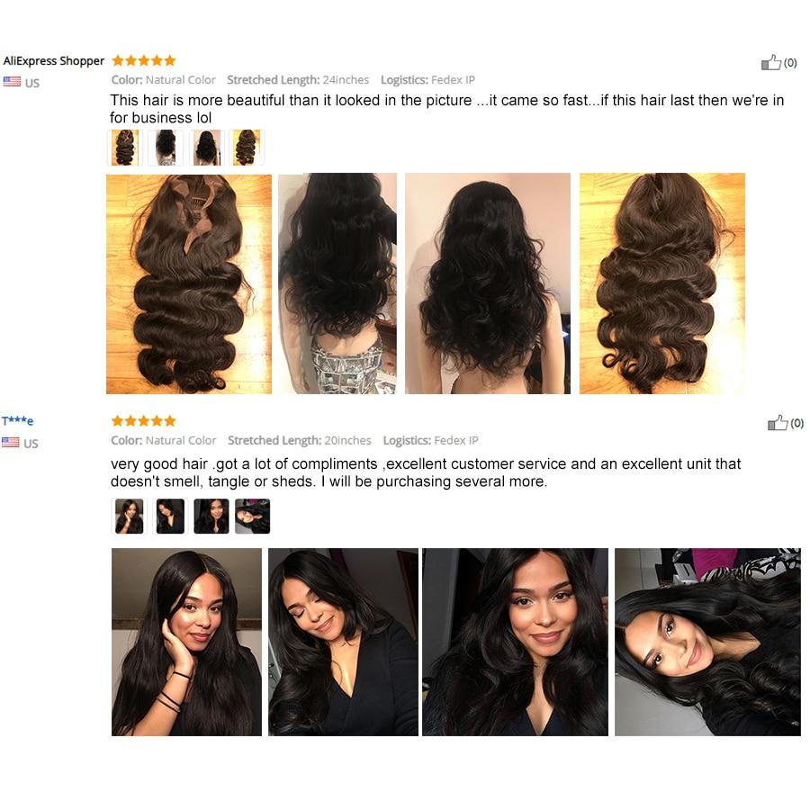 Čudovito dekle brezhibno čipke sprednje lasulje las las za črne - Človeški lasje (za črne) - Fotografija 5