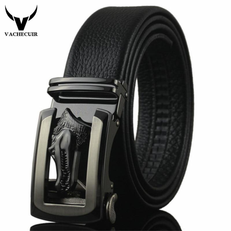 Moda cinturón hombres cocodrilo hebilla de la aleación marca diseñador  cinturones de cuero para los hombres de lujo para hombre cinturones hombre  marca ... f76548273758