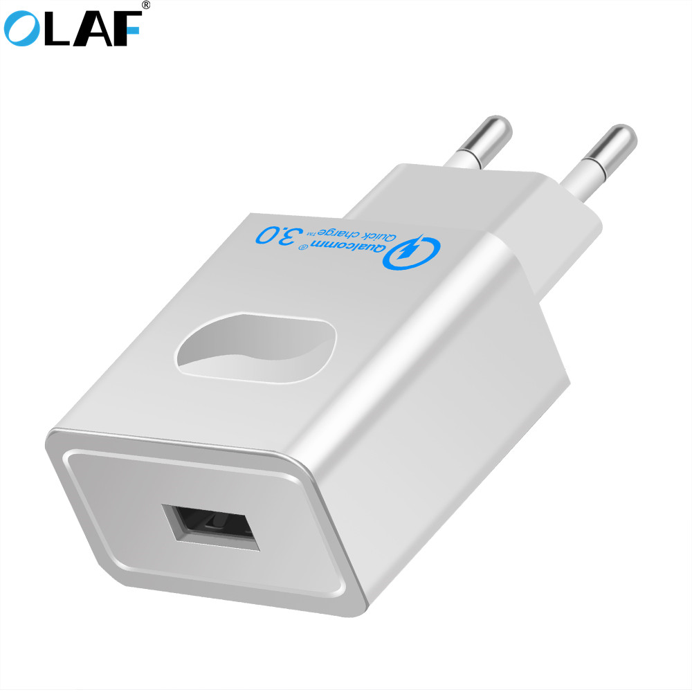 OLAF Quick Charge 3.0 USB Charger Fast Mobile Phone Charger QC3.0 Quick Charge 2.0 Compatible USB charger for Samsung for Xiaomi