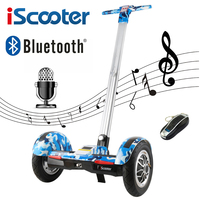IScooter Hoverboard 10 Inch Two Wheel Self Balancing Scooter Samsung Battery Bluetooth With Handle Standing Balance