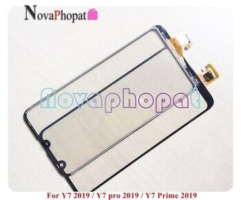 Sensor Novaphopat negro/blanco para Huawei Y7 2019/Y7 Pro 2019/Y7 Prime 2019 Digitalizador de pantalla táctil Panel de vidrio; 10 unids/lote