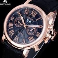 2016 FORSINING Men S Watch Dress Brand Fashion Business Automatic Mechanical Rose Gold Black Date Wristwatch