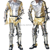 Редкие крик Hot MJ Майкл Джексон Книги по истории концертный тур Classic Silver Нержавеющаясталь Панцири и золотой костюм полный набор