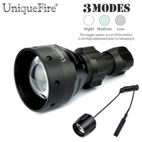 UniqueFire 3W Cree XRE Led Flashlight UF 1504 Zoomable 3 Modes Tactical Aluminum Alloy Lamp Torch
