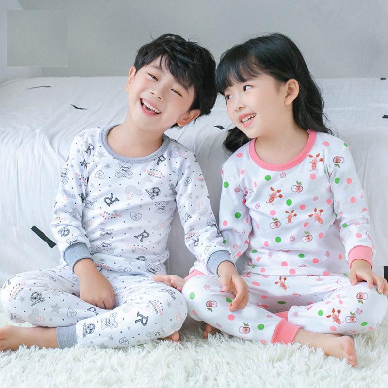 Klug Neue Mädchen Pyjamas Set Frühling Herbst Kinder Baumwolle Lange John Set 100% Baumwolle Großen Jungen Lange Unterhosen Kinder Oansatz Unterwäsche Nachtwäsche AusgewäHltes Material