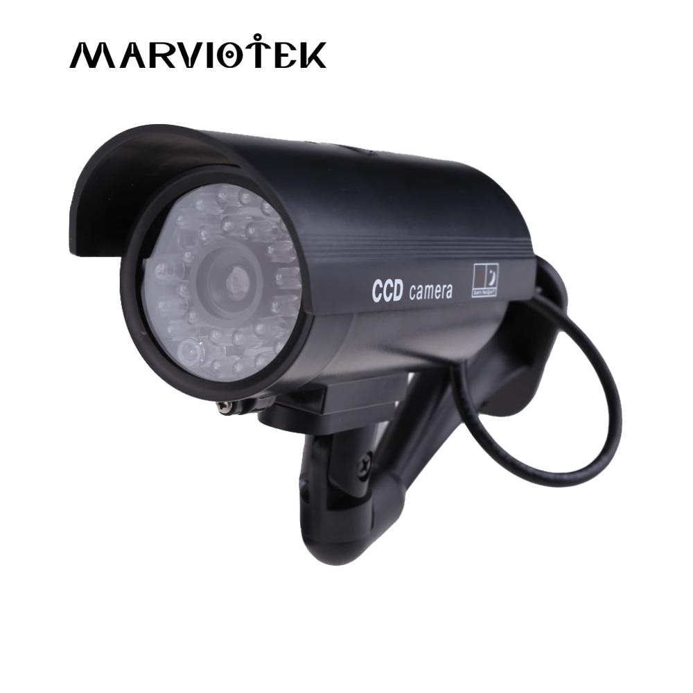 Outdoor Fake IP Camera wifi bullet security video Surveillance dummy camera cctv videcam Mini Camera Black Flashing LED Light